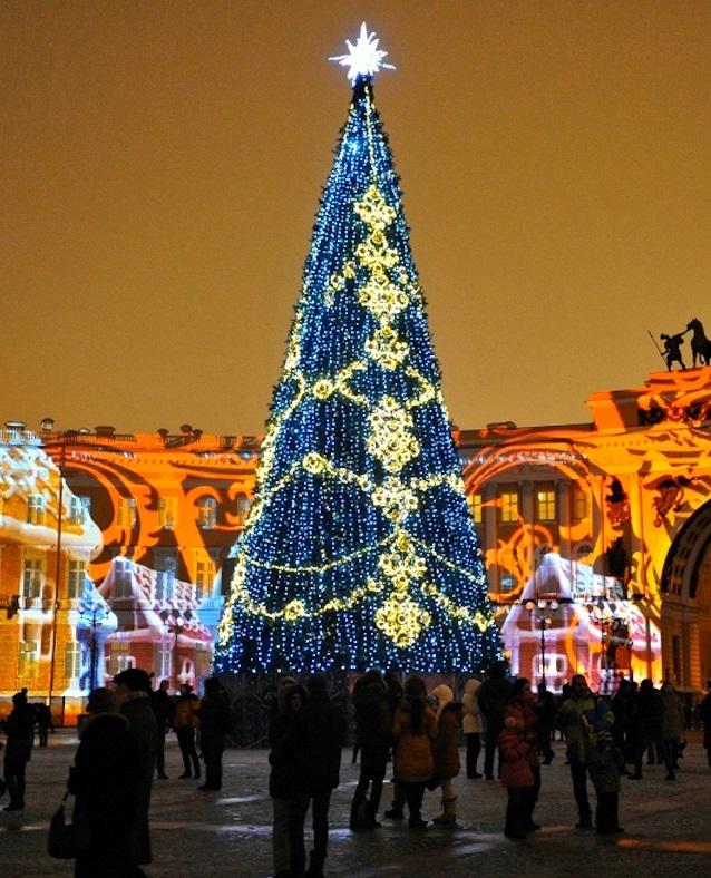 Новый год 2009 на Дворцовой площади